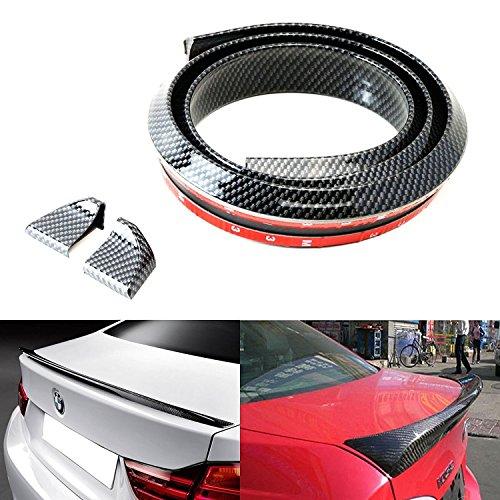 Carbon Fiber Rear Spoiler - (1) 4.5 ft Samurai PU Trunk Lip Splitter or Roof Spoiler Body Kit Trim Sticker Universal