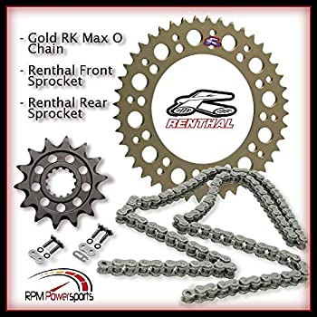 Suzuki RM250 2002 2003 2004 2005 2006 X-Ring Chain Black Rear Front Sprocket Kit