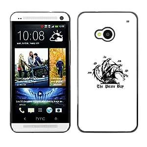 ROKK CASES / HTC One M7 / THE PIRATE BAY / Delgado Negro Plástico caso cubierta Shell Armor Funda Case Cover