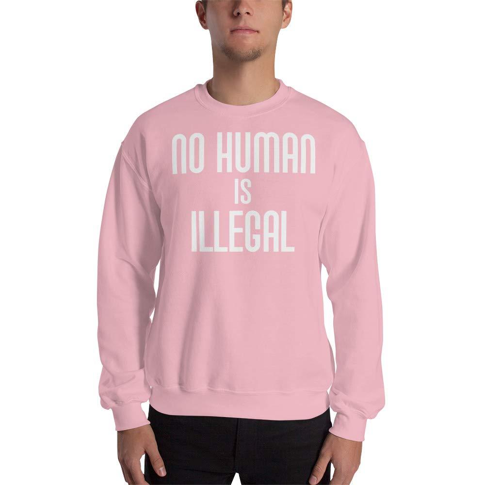 Sweatshirt Light Pink No Human is Illegal