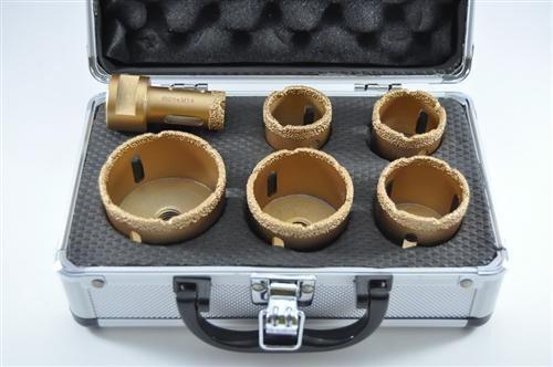 Diamant Fliesenbohrkronen M14 Set 6 tlg. 20/25/42/50/55/68 mm Fliesen Bohrkrone Glasbohrer WERKONTOOLS