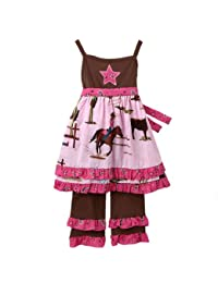 Girls Boutique Cowgirl & Horses Dress & Pant Clothing