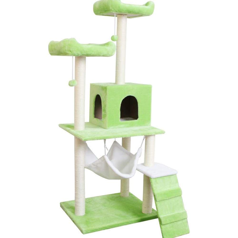 C JU FU Cat Tree Large cat Tree Four Seasons General sisal cat Climbing Frame cat Tower Hanging Ball Jumping cat Toy pet Toy pet nest 8 colors Optional @@ (color   C)