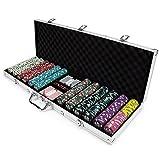 Poker Chip Case, Claysmith 600ct Showdown Texas Holdem Travel Poker Chip Case Set