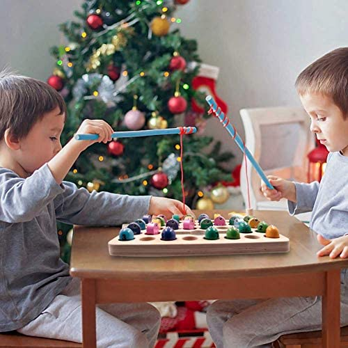 Glory Island Wooden Magnetic Fishing Game, Montessori ...