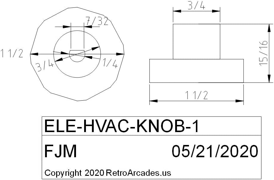 HVAC Manual Damper knob White Designed for .25 Inch Shaft dampers