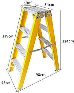 Portátil Plegables Escalera,casa Escaleras De Mano Antideslizante Ligero Multifunción Para La Cocina Loft Oficina-amarillo4: Amazon.es: Bricolaje y herramientas