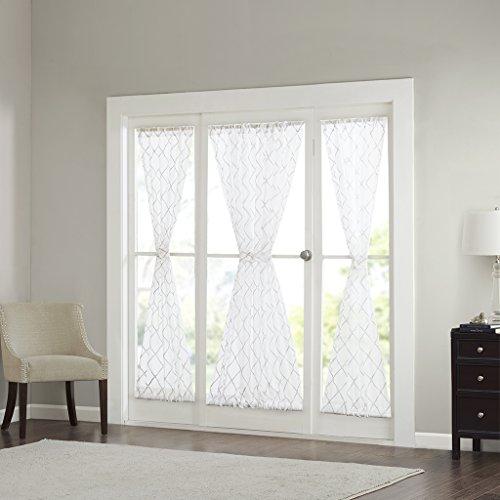 Sheer cortinas para el recámara, moderno y contemporáneo Sidelight cortina de SHEER blanco para sala de estar, Irina...