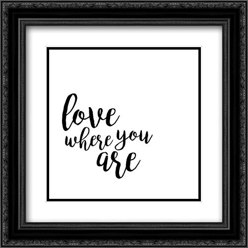 Quotable V 20x20 Black Ornate Frame and Double Matted Art Print by Hambly, ()