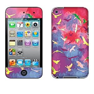 Fincibo (TM) Apple iPod Touch 4 4th Generation Accessories Skin Vinyl Decal Sticker - Birds In Space
