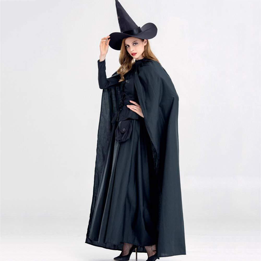 Medium Olydmsky DeguiseHommest HalFaibleeen HalFaibleeen Witch Costume Adulte Noir Horreur sorcière Masvoitureade Prom thème soirée Costume