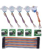 Kuman Motor de Pasos para Arduino 5pcs 28BYJ-48 ULN2003 5V Motor de Pasos + Placa de Conductor ULN2003 + Dupont Cable 40pin Macho a Hembra Cables de Puentes K67