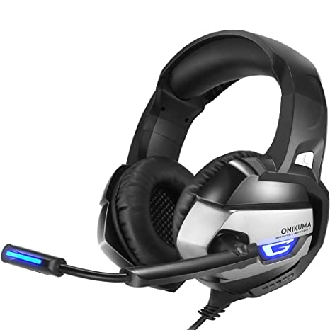 Là Vestmon PS4 Gaming Headset - Onikuma K5 3.5 mm Stereo Gaming cuffie con microfono con