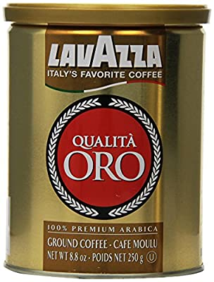 Lavazza Qualita Oro Ground Coffee, 8.8-Ounce Cans (Pack of 2)