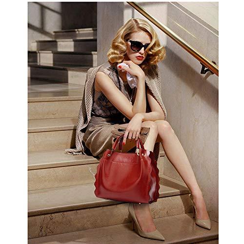 Bag Borsa Borse Donne Grigio In Crossbody Spalla Tote Donna Pelle Audburn Elegante A Retro Messenger Catena wY6xaBHYqR