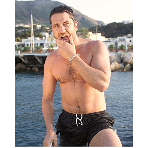 (Gerard Butler 8x10 Photo 300 How to Train Your Dragon P.S. I Love You Nothing But Swim Trunks!! kn)