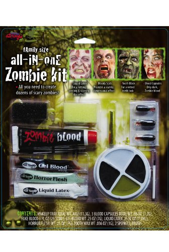 Family Size All in One Zombie Kit Costume Makeup ()