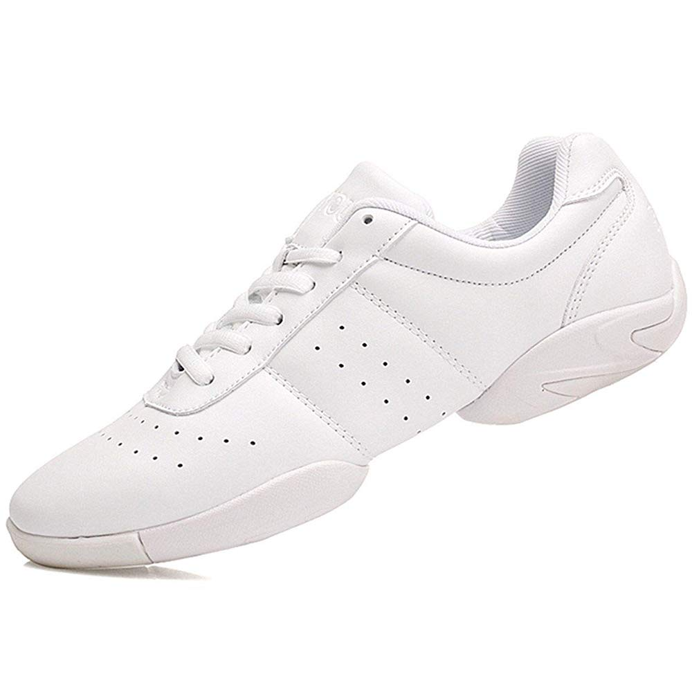 Smapavic Cheer Shoes Women White Cheerleading Dance Shoes Fashion Sneakers Tennis Athletic Sport Training Shoes for Gilrs White 6 B (M) US by Smapavic