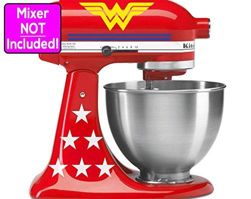 Deluxe Wonder Woman sticker set for KitchenAid