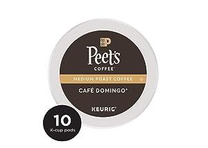 Peet's Coffee Café Domingo Medium Roast Coffee K-Cup, 10 ct