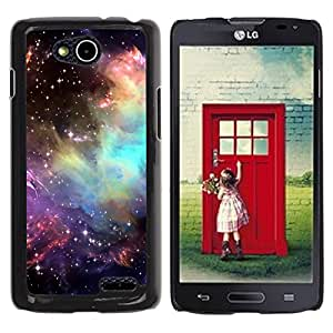 Qstar Arte & diseño plástico duro Fundas Cover Cubre Hard Case Cover para LG OPTIMUS L90 / D415 ( Universe Cosmos Stars Awe Inspiring)