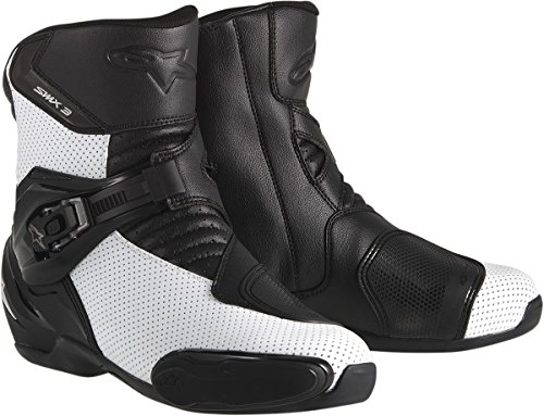 Alpinestars SMX 3 SportBike Motorcycle Boots CE Certified White Vented Euro 47 US Size 12 (Agv Helmet Sizes)