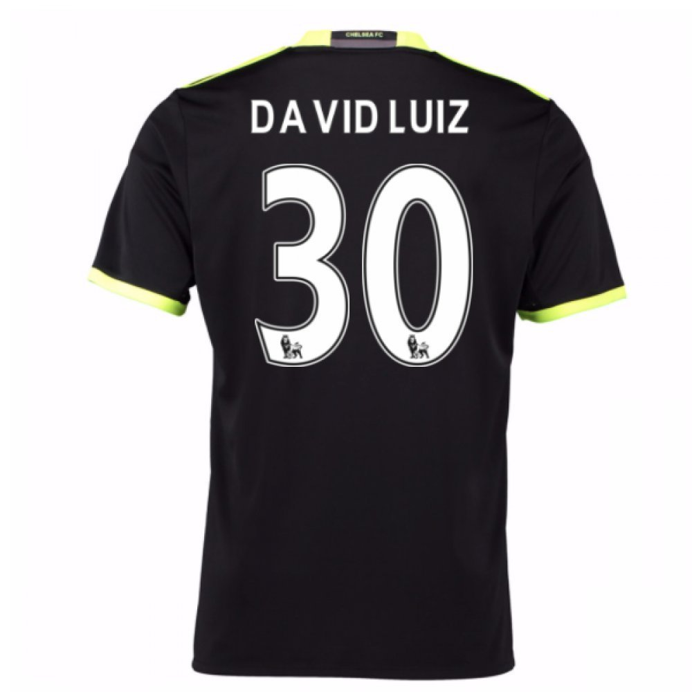 2016-17 Chelsea Away Football Soccer T-Shirt Trikot (David Luiz 30) - Kids