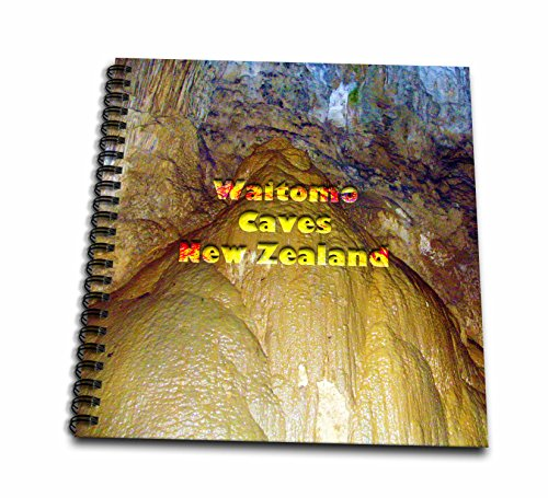 3dRose Jos Fauxtographee- Waitomo Cave NZ - Waitomo Caves in New Zealand with Stalactites and Stalagmites - Drawing Book 8 x 8 inch (db_255936_1)