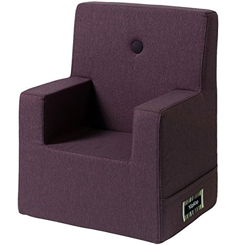 by KlipKlap Kids Chair XL - Plum with Plum Button