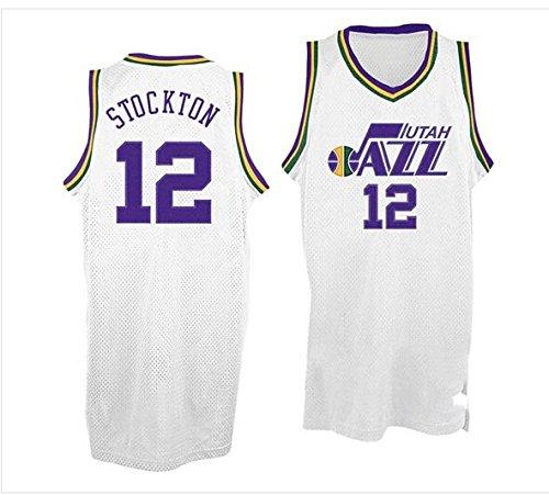 John Stockton #12 Basketball Jersey Hardwood Classics Jersey White