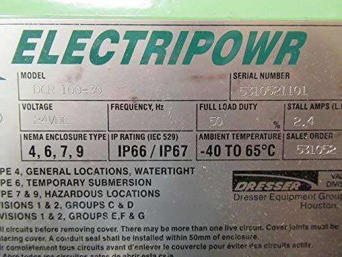 2.4 Amps Dresser DCR 100-30 Valve Actuator 24VDC