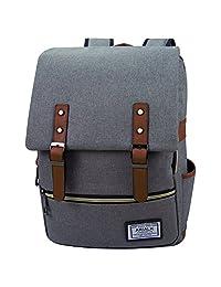 ARIALK Backpack Laptop Holder Bag Adjustable Straps Unisex Trip Multipurpose Outdoor Activities (03 Gray)