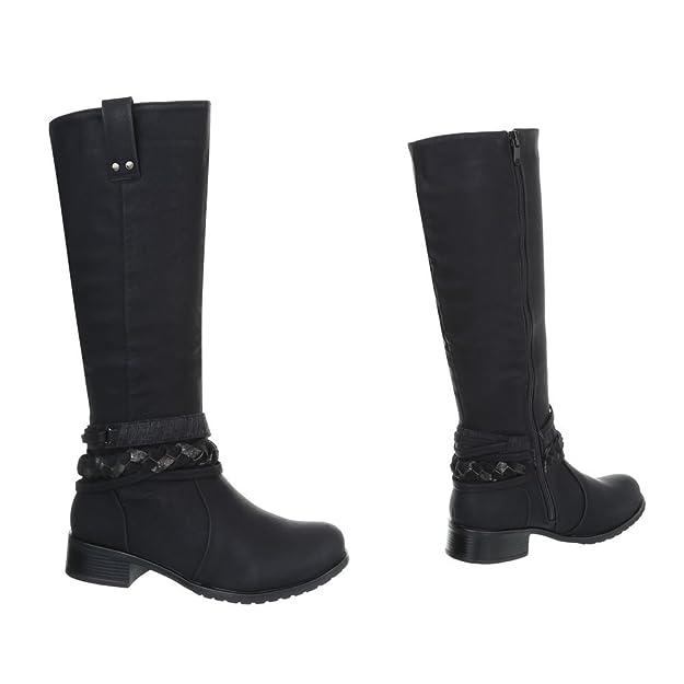 Schnalle Blockabsatz Klassische Stiefel Gr 37 Iqo74XGXg