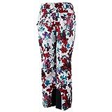 Obermeyer Women's Malta Pants Snow/Fire Flora 6