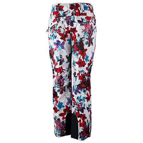 Obermeyer Women's Malta Pants Snow/Fire Flora - Womens Ski 18 Pants Size