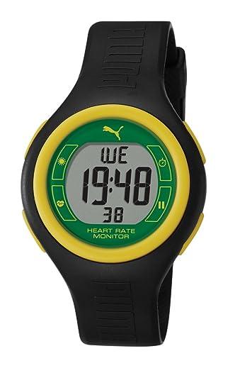 PUMA PU910541016 - Reloj digital de cuarzo unisex con correa de plástico, color negro: Amazon.es: Relojes