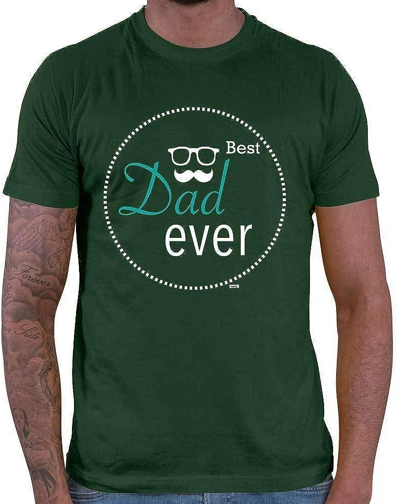 HARIZ Dad Ever 3 - Camiseta de Manga Corta para Hombre, diseño de Hijo y bebé para Nacimiento, Incluye Tarjeta de Regalo