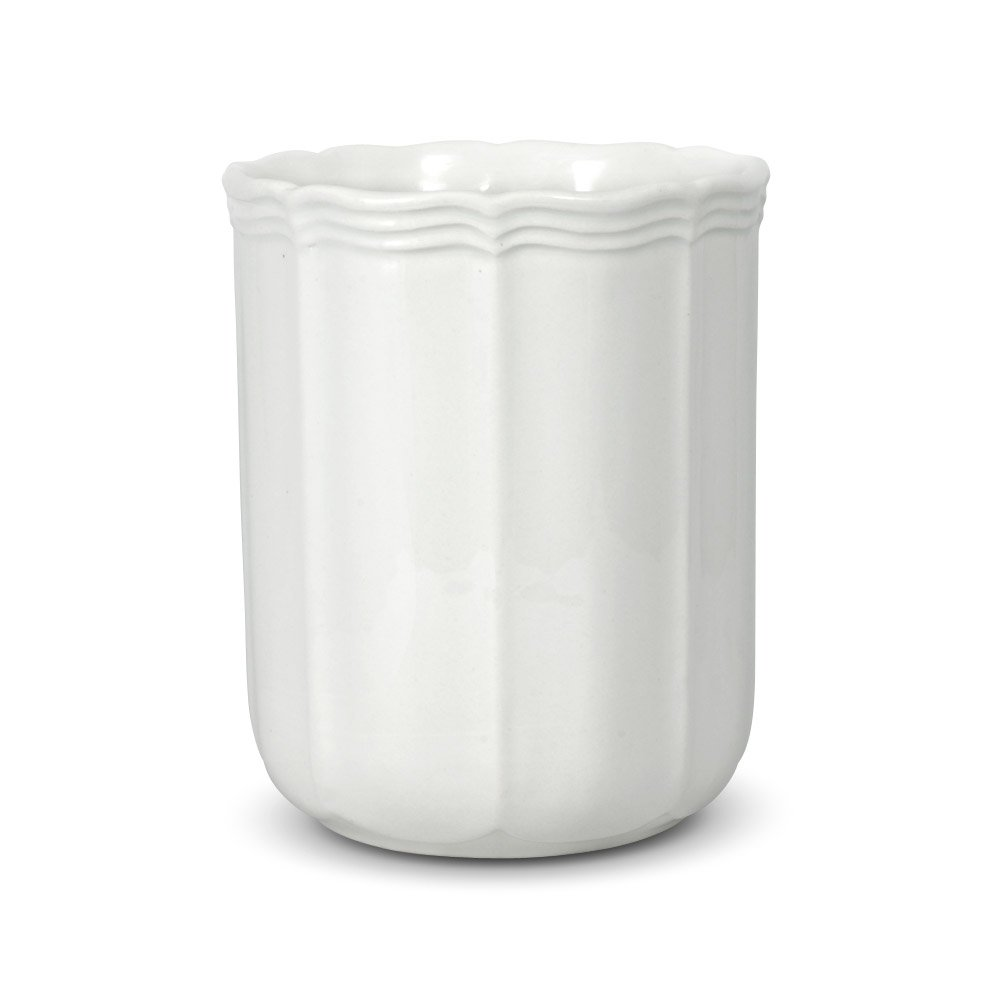 Mikasa French Countryside Utensil Crock, 6-1/2-Inch, White
