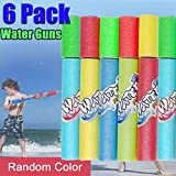 6 Pack Water Guns 14.5'' Blaster Soaker Foam Water Shooter Toys for Kids Boys Girls Light Weight Water Blaster Summer Swimming Pool Game Party Favor Beach Sand Travel Portable Summer Water Fun Playing