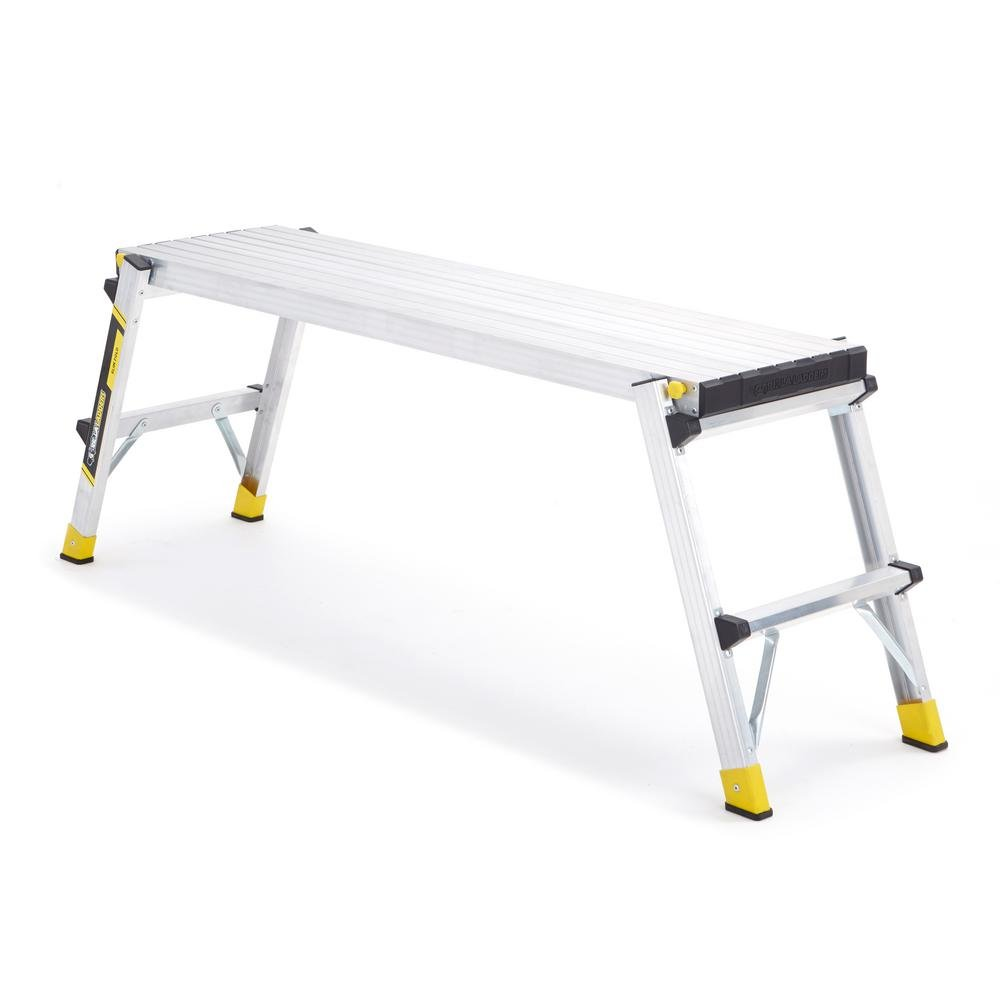 GORILLA LADDERS GLA-47WP Aluminum Slim-Fold Work Platform with 250 lb. Load Capacity