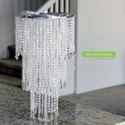 "We Can Package 20"" Wedding Sparkle Beaded Chandeliers Centerpieces Decorations Crystal Bling for Event Party Decor"