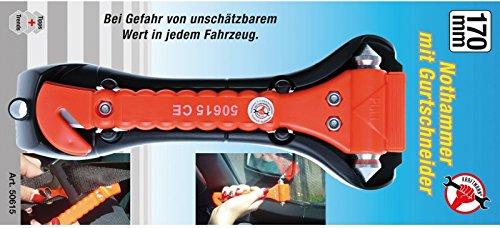 50615 Kraftmann Nothammer mit Gurtschneider