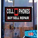 Cell Phones Buy Sell Repair LED Light up Sign