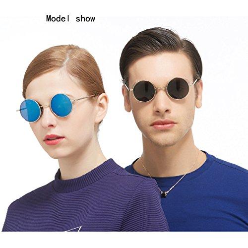 Prince Lunettes Soleil Polarized Classic Fashion GAOLIXIA Rondes Soleil Lunettes F Mirror Protection Lunettes De Unisexe UV De OYxH7q