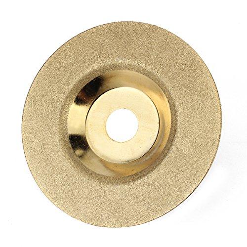 100mm x 16mm Diamond Grinding Wheel Disc Hard Alloy Golden Polishing Disc