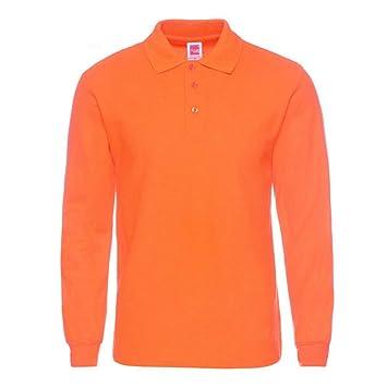 NISHIPANGZI Los Hombres Bordado Polo Polo Largo Camisetas de ...