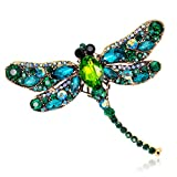 YHDBH Vintage Design Crystal Rhinestone Dragonfly Brooches For Women Dress Scarf Brooch Pins Jewelry Accessories Gift