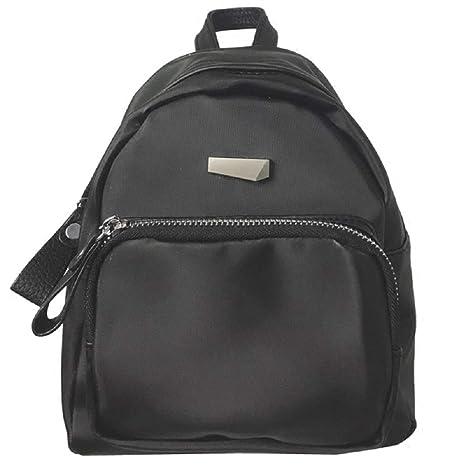 Zhrui Mini mochila mujer bandolera mochila casual mochilas tela Oxford negro (Color : Negro)
