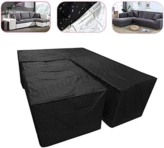 Rattan Cube Set Garden Furniture Waterproof Covers Corner Sofa L Shaped Patio