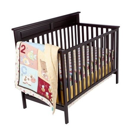 Kidsline Tiddliwinks ABC 123 3pc Baby Crib Bedding Set